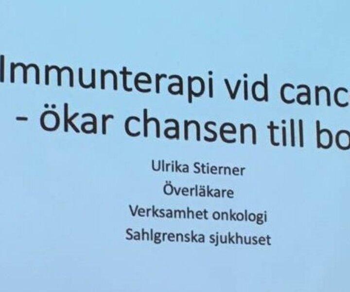 Föreläsning om cancerforskning